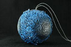 Новый год на Sees-All-Colors: Елочные игрушки с декором из полимерной глины Demiurgus Dreams