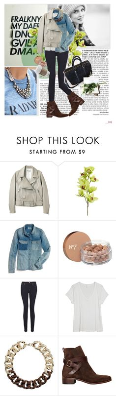 """""""A day in NY"""" by m-attie ❤ liked on Polyvore featuring Zephyr, Chiara Ferragni, Acne Studios, Pier 1 Imports, Madewell, Boots No7, 7 For All Mankind, Vanessa Bruno, Topshop and See by Chloé"""