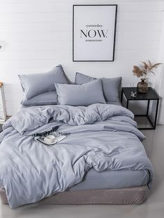 Shop Dark Gray Duvet Cover by AanyaLinen. This Dark Gray Duvet Cover helps to make your Ambiance so wonderful & colorful. Bedroom Inspo, Home Decor Bedroom, Modern Bedroom, Bedroom Wall, Minimal Bedroom, Bedroom Curtains, Bedroom Apartment, Bedroom Furniture, Bed Sets