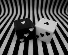 Black and White Dice. #blackandwhite #dice http://www.pinterest.com/TheHitman14/black-and-white/