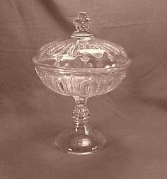 "EAPG ""One O One"" High Standard Covered Compote circa 1880s, 10.5""H x 7 3/8""D"