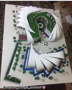 Architecture Site Plan, Concept Models Architecture, Maquette Architecture, Architecture Model Making, Paper Architecture, Museum Architecture, Creative Architecture, Education Architecture, Landscape Architecture Design
