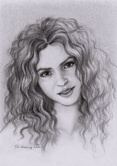 Shakira Drawing by thedrawinghands
