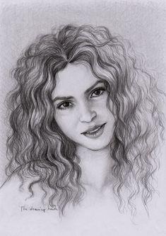 Shakira by thedrawinghands.deviantart.com on @deviantART