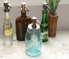 make old bottles soap dispensers.