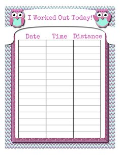 Free Printable: Food & Fitness Tracking Sheet | Health & Fitness ...