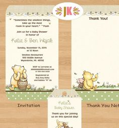 Classic Winnie the Pooh  Baby Shower Printed Invitations Boy - http://www.baby-showerinvitations.com/classic-winnie-the-pooh-baby-shower-printed-invitations-boy.html