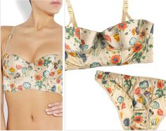 Stella McCartney bustier bra. Different silhouettes and their pattern pieces