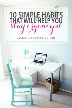 These habits are so simple and easy to implement, and they make a BIG impact on your productivity! Click through to the post to see all 10!