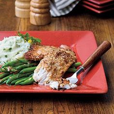 Try this tasty tilapia with a simple squeeze of lemon or, if you a have a little more time, delicious Golden Rum-Butter Sauce. If you don't have a skillet large enough to hold all the fillets easily, we recommend cooking them in batches and keeping them warm in a 200° oven. You can substitute catfish, flounder, or orange roughy for tilapia.