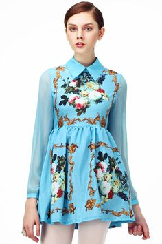 ROMWE   Sheer Sleeved Floral Dress, The Latest Street Fashion