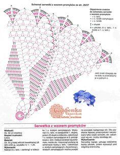 Crochet Doily Diagram, Crochet Edging Patterns, Crochet Stitches, Crochet Shirt, Knit Crochet, Crochet Dollies, Crochet Tablecloth, Doilies, Dream Catcher