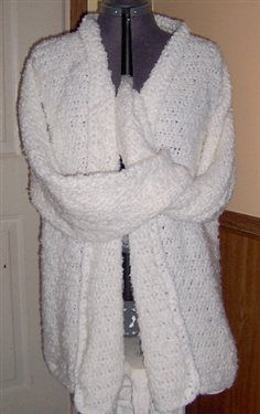 Women's Size 16-18 Boucle Cardigan Free Crochet Pattern