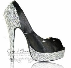 Harper Various heel heights available Open or closed toe  www.crystalshoecouture.com