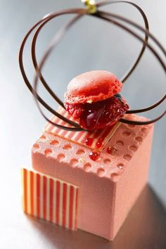 Cube sucré, Philippe Bertrand et Martin Diez (Chocolate Desserts Photography) Gourmet Desserts, Fancy Desserts, Plated Desserts, Just Desserts, Delicious Desserts, Healthy Desserts, Super Torte, Patisserie Fine, Weight Watcher Desserts
