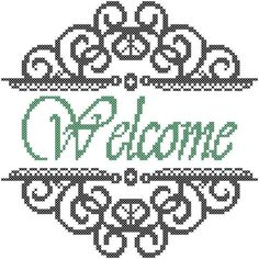 Cross Stitch Pattern Welcome with by oneofakindbabydesign on Etsy