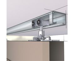 Wall Mounted Sliding Door Hardware ceiling mounted barn door-same opening type as ours (wall on one