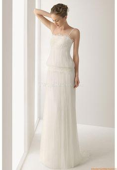 Kolumne bodenlang Schlichte Brautkleider 2014 aus Chiffon