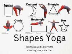 Miss Meg's Storytime | Shape Yoga with preschoolers