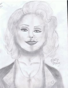 Marilyn Monroe Portrait by ~alicethewildflower on deviantART