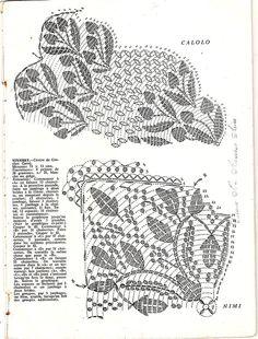 CALOLO схема) Ретро-салфетки крючком centros-crochet-010