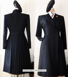 VV 1940s Pleat Coat | sew VeraVenus