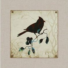 """Birds by Butler Traditional Art (Set of 4) - 17"""" x 17"""""""