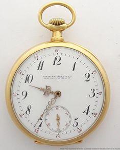 c30255752 Rare 20J Patek Philippe 18K Gold Pocket Watch Robert Burton 1916 Fine Large  Mens #mensluxurywatches