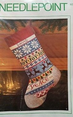 Christmas Sunset Stocking Knit One Purl One Needlepoint Kit 6061 Factory Sealed