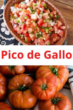 This iconic fresh tomato salsa is also called salsa bandera (flag) because it has the three colors of the Mexican flag: green, white, and red making this salsa perfect for Mexican Independence Day. #picodegallo #salsa #tomatosalsa #latinrecipes #mexican #mexicanrecipe #muybueno | muybuenocookbook.com @muybueno