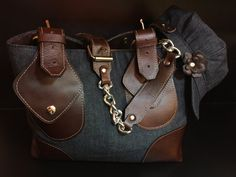 Denim Tote and Hat Combo