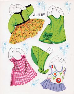LITTLE DARLINGS Published by ArtCraft 1969 This is Julie's Clothes  6 of 8