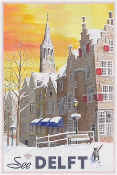 See Delft in Wintertime