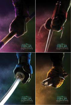 Pôsteres dos Tartarugas Ninja. #TMNT