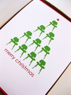 Mid-Century Modern Christmas Card (Set of Modern Christmas Cards, Merry Christmas Card, Christmas Design, Vintage Christmas, Business Christmas Cards, Christmas 2014, Christmas Ideas, Corporate Holiday Cards, Holiday Greeting Cards