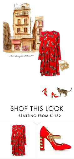 """""""Maria-Teresa"""" by theitalianglam ❤ liked on Polyvore featuring Dolce&Gabbana, dolcegabbana, catstyle, mariateresa and adolcegabbanastory"""