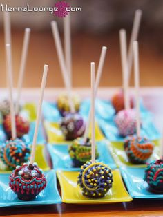 Henna Cake | henna_cake_pops | Flickr - Photo Sharing!
