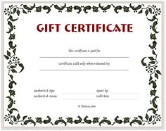 Christmas Certificates Templates For Word Inspiration 44 Free Printable Gift Certificate Templates For Word & Pdf .