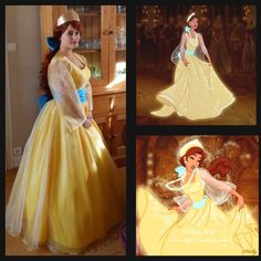 How am I going to make this.... Anastasia cosplay costume Princess Anastasia yellow by Donecosplay