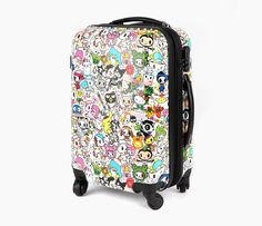 tokidoki x Sanrio Characters Suitcase - super cute. been eying it for a while now. Hello Kitty Shop, Sanrio Hello Kitty, Kids Toys For Christmas, Kawaii, Vintage Luggage, Sanrio Characters, Little Twin Stars, Travel Accessories, Purses And Bags