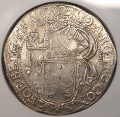 1647 Netherlands Utrecht Lion Daalder Dav-4863 KM-32 - NGC AU - Rare Coin!