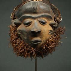 MBUYE MASK | Virtual Tribal and Textile Art Shows Sculptures, Lion Sculpture, Rite Of Passage, Male Figure, Ivory Coast, West Africa, Tribal Art, Congo, Abstract Expressionism
