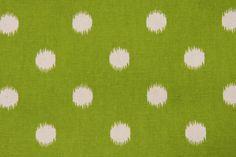 """Ikat Dots Decorative Pillow Cover 18x18"""" - Polka Dots- Green - Natural. $25.00, via Etsy."""