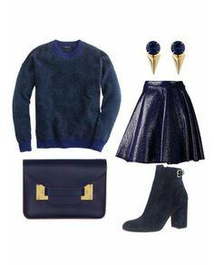 Wearing monochrome (blue)