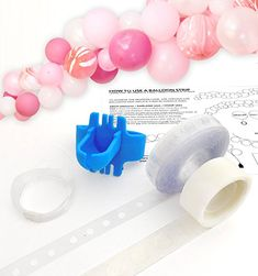US only - Balloon Arch Garland Decorating Strip Kit, Reusable Balloon Tape Strip Tying tool, D Balloon Decorations Without Helium, Wedding Balloon Decorations, Balloon Garland, Balloon Arch, Baby Shower Decorations, Balloon Ideas, Balloon Designs, Free Baby Shower Printables, Baby Shower Activities