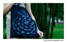 ARTESANATO COM QUIANE - Paps,Moldes,E.V.A,Feltro,Costuras,Fofuchas 3D: Esquema para fazer a flor da bolsa Jeans - Faça você mesmo!