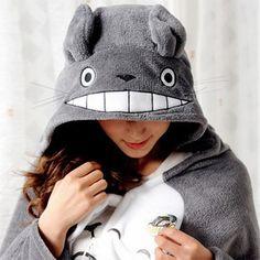 Cute totoro gray cloak dress smock http://www.storenvy.com/products/2000037-cute-totoro-gray-cloak-dress-smock