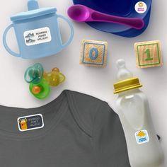 Etiquetas para útiles y ropa para los niños en Kinder
