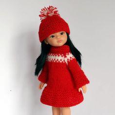 OUTFIT-13-034-Puppenkleidung-32-36-cmPuppe-Set2tlg-NEU-Paola-Reina-Effner-Minouche dianna effner