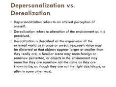Depersonalization & Derealization - a person with a complex trauma history may experience either or both of these phenomena. Ptsd Awareness, Mental Health Awareness, Mental Disorders, Anxiety Disorder, Depersonalization Disorder, What Is Anxiety, Therapy Worksheets, Complex Ptsd, Dissociation